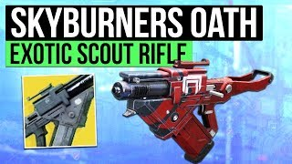 DESTINY 2 | SKYBURNERS OATH! - Cabal Exotic Scout Slug Rifle Overview!