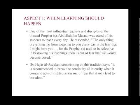 Understanding and Applying Islamic Pedagogy