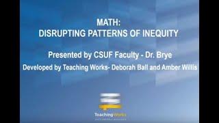 K12 Online Teaching Webinars: Disrupting Math Inequities