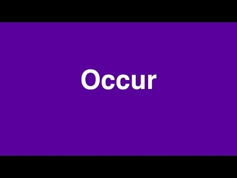 How to pronounce OCCUR: Learn British English