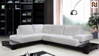 Modern White Leather Sectional Sofa  VG2T0507A from VIG Furniture