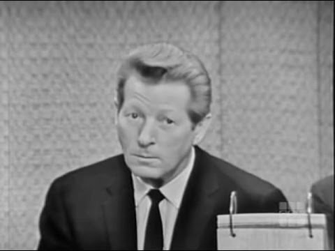 What's My Line? - Danny Kaye; Johnny Carson & Phyllis Newman [panel] (Mar 24, 1963)
