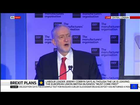 Jeremy Corbyn business speech issues stark warning to the banking sector