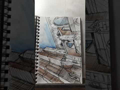 A quick look inside one of my travel sketchbooks!