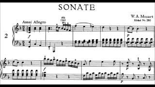 mozart kv 280 piano sonata no 2 i in f major sheet music score