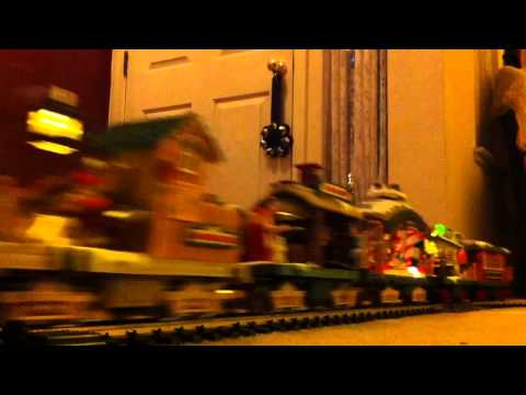 The Holiday Express Christmas Train Passing By