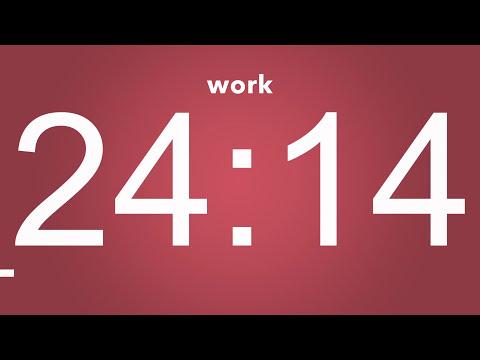 Extreme Pomodoro Technique 10 x 25 min - Study Timer 5h