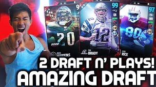 ONE OF MY BEST DRAFTS! 2 DRAFT N' PLAYS! MADDEN 17 DRAFT CHAMPIONS