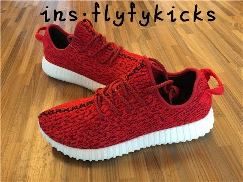 separation shoes 41f1a 44bdc 2015 Yeezy Boost 350 Red and White From  flyfykicks