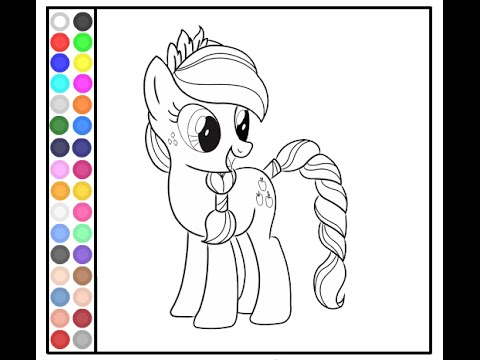 My Little Pony Painting Games MLP Coloring Pages  YouTube