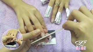 Video cách Đắp phom bột-Tháo móng bột nail: Phần 2/2 Tháo phom bột nail: Tháo sống và ủ axiton