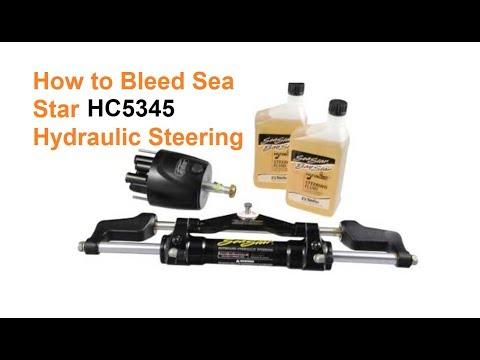 Bleeding A Sea Star Hydraulic Steering System