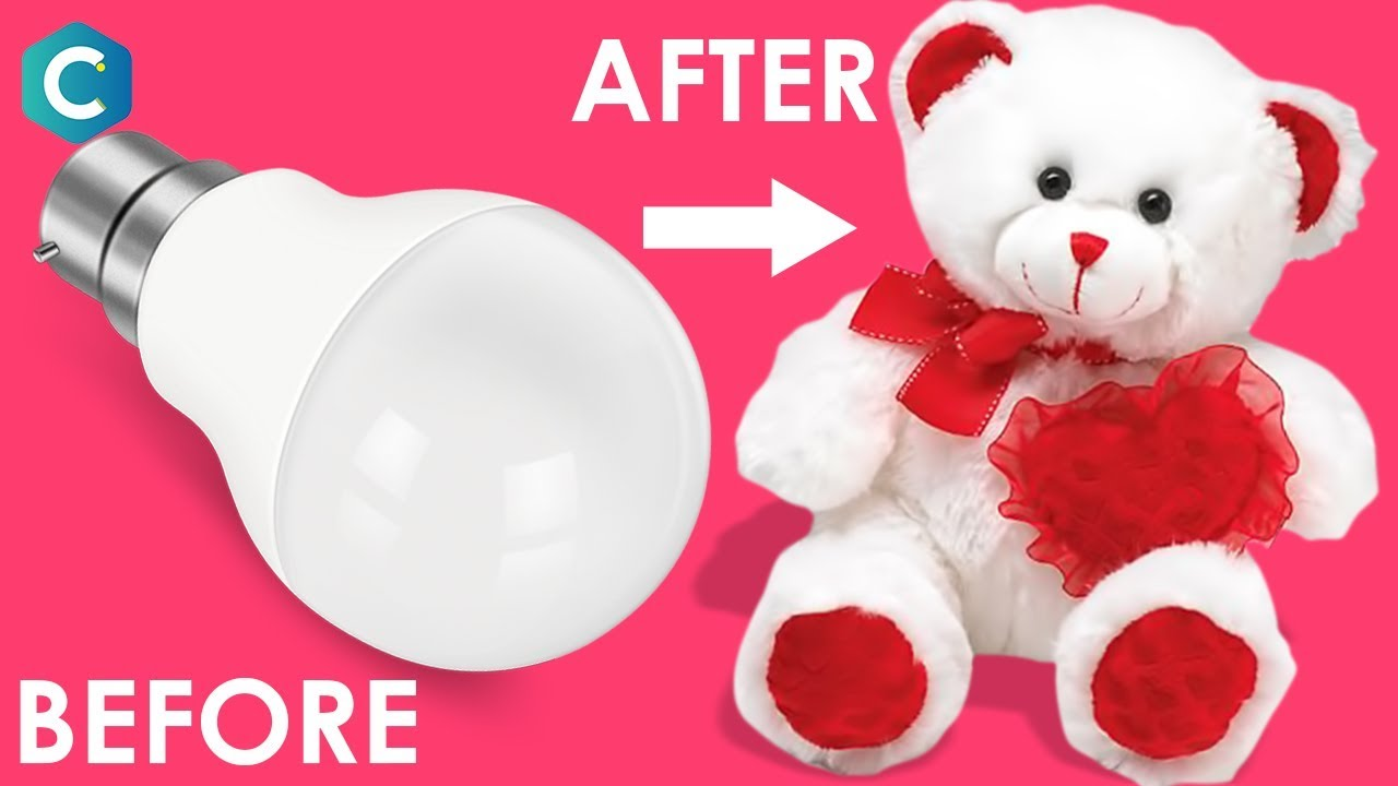 How To Make Teddy Bear With Cotton Bulb