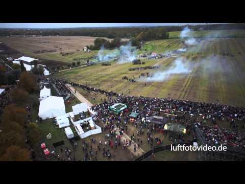 200 Jahre Völkerschlacht in Leipzig/ Markleeberg - Luftaufnahmen HD 2013