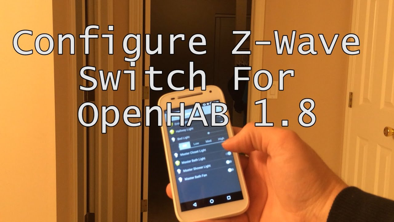 Configure Z-Wave Switch for OpenHAB 1 8 using IMA Tools and OpenHAB Designer