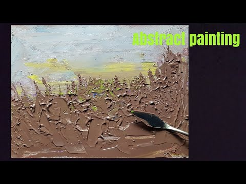 Making of Abstract painting| Tree Landscape| easy | for Beginners| oil painting | Nature Drawing