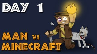 man vs minecraft s5 day 1 ritual gone bad survival role play
