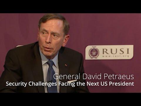 General (Ret) David H Petraeus - Security Challenges Facing the Next US President