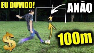 FAZER GOL EM UM ANÃO A 100 METROS DE DISTÂNCIA!!! feat. Tarobinha - EU DUVIDO! #