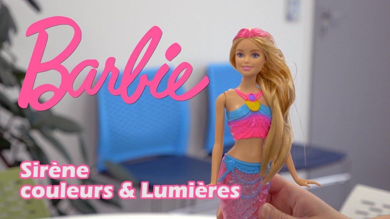 Barbie sir ne couleurs et lumi res d mo en fran ais youtube - Barbie sirene couleur ...