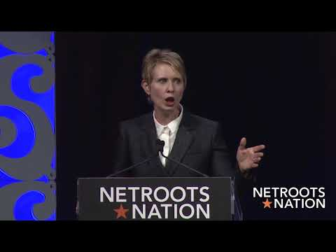 Cynthia Nixon Friday Afternoon Keynote Netroots Nation 2018