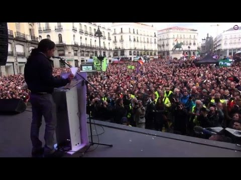 Tens of thousands march to support Spanish anti-austerity party
