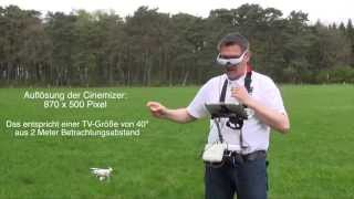 DJI Phantom 2 Vision #10 - Zeiss Cinemizer OLED für FPV (Deutsche Version)