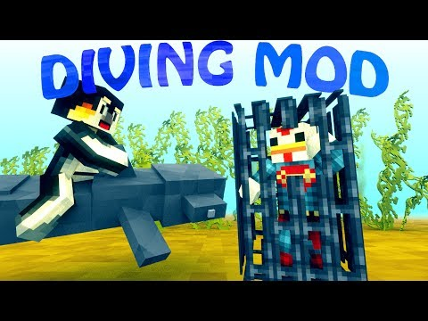Minecraft Ultimate Fishing Mod Showcase - DIVING MOD, FISHING MOD! w/ Facecam