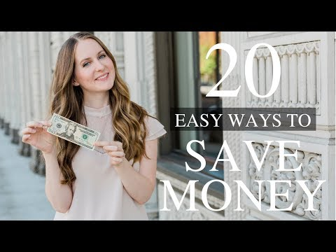 20 EASY Ways to Save Money
