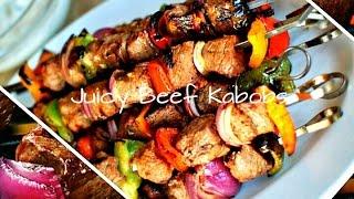 Juicy & Easy Grilled Beef Steak Kabobs