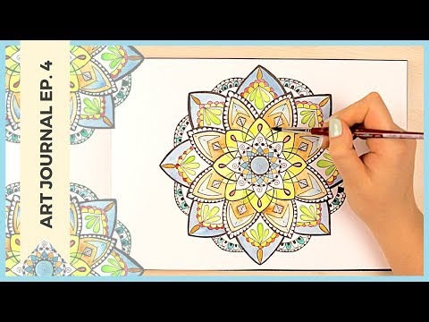 Drawing a Mandala | Nothing is Permanent? | Mandala Art & Doodle Ideas | Art Journal Thursday Ep. 4