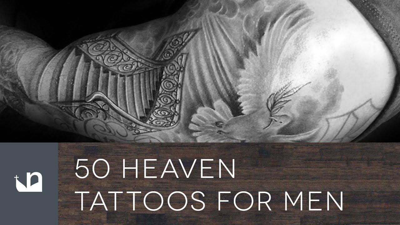 50 heaven tattoos for men youtube. Black Bedroom Furniture Sets. Home Design Ideas