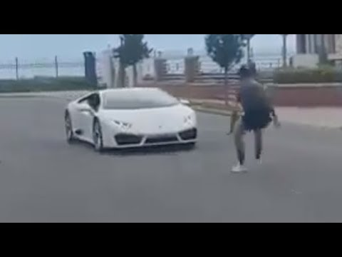 The Jim Colbert Show - What Could Go Wrong? Dude Tries To Jump Over A Lamborghini!