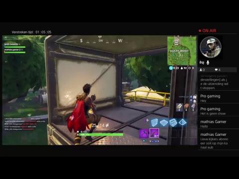 M4ZE-GAMERS IS Back fornite live streame met Mathijs gamer