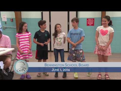 Bennington School District Board - 6/1/16