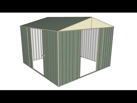 Garden Sheds 3x3 3x3 dual double sliding door garden shed - youtube