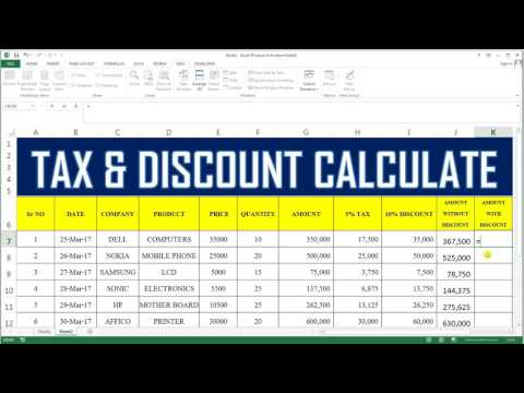 How To Calculate Tax & Discount In Excel # 36
