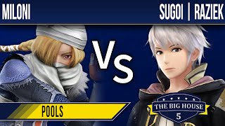 TBH5 Smash 4 - Miloni (Sheik) vs SUGOI | Raziek (Robin) - Pools