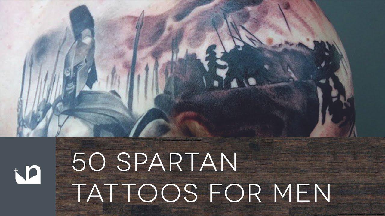 50 Spartan Tattoo Designs For Men – Masculine Warrior Ideas