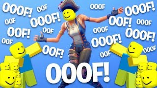 Fortnite Dances But With The Ooof Sound..! (Roblox Death Sound)