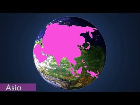 7 Continents Globe Animation