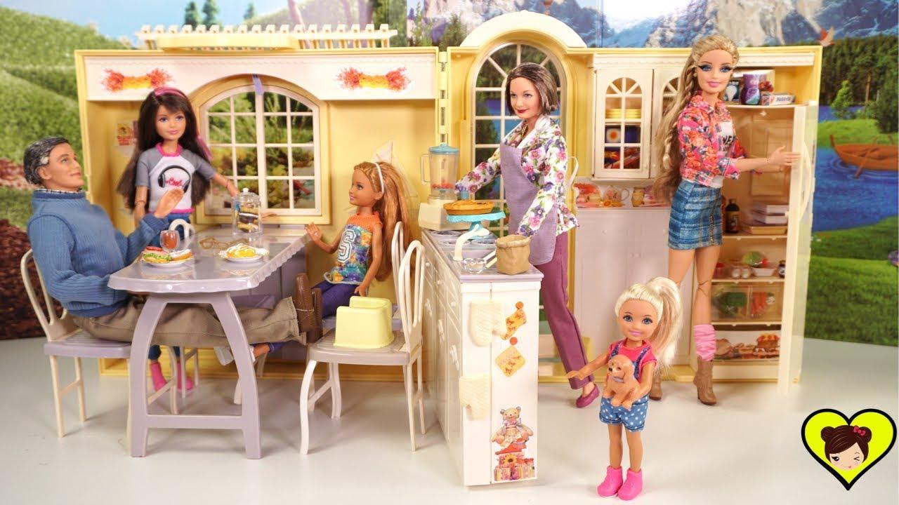 La familia barbie y la nueva casa de los abuelos juguetes de titi para ni os youtube - La casa de barbie de juguete ...