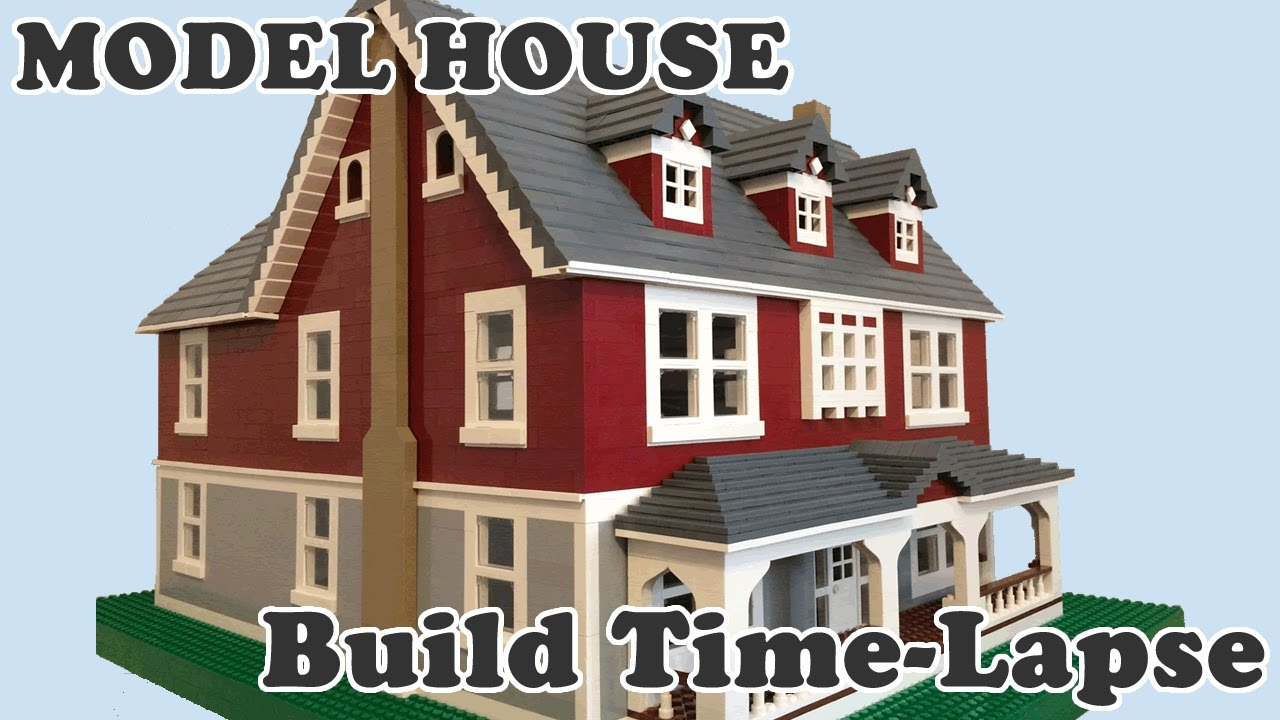 Lego Model Dream House Time Lapse Build Youtube