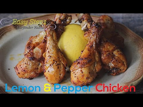 FAST RECIPE How To Cook Oven Roasted Lemon & Pepper Chicken Drumsticks | Juicy Tender Chicken