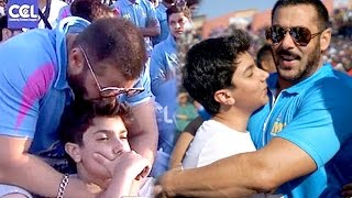 Salman Khan With Cute Nephew Nirvaan (VIDEO) At CCL6