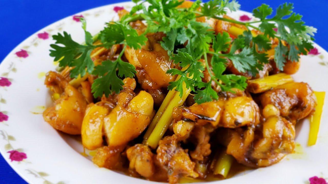 Các món xào, Món ăn từ ếch, ếch xào sả ớt, ếch xào lăn cách làm đơn giản ❤️ Huyền Thanh Food