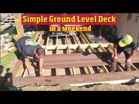 How to Build a simple Ground level Deck in a weekend