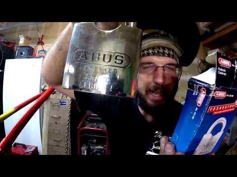 Bolt Cutters VS ABUS 83/80 Padlock rekey lock cylinder can cut angle grinder cut test