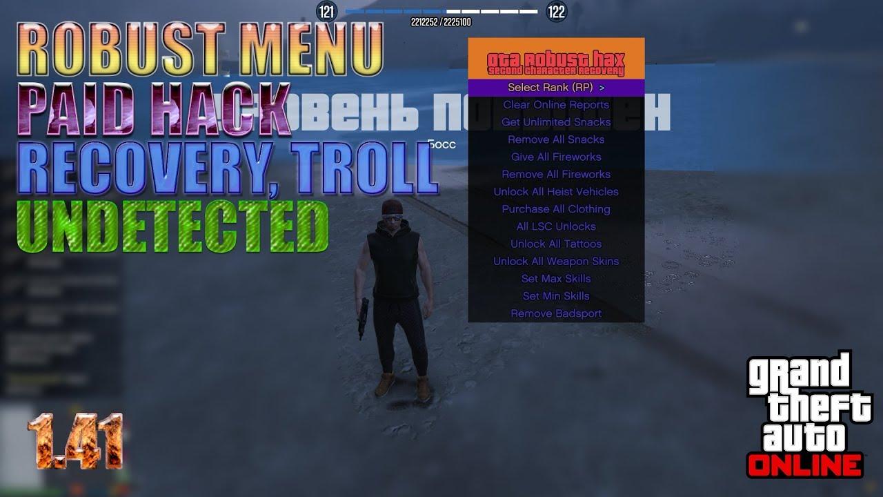 GTA V PC Online 1 41 Robust Menu - Robust PAID Hack Undetected