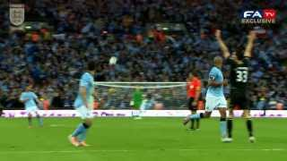 PITCH:CAM Exclusive Pitchside Highlights Wigan Vs Manchester City 1-0, FA Cup Final 2013